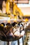 De gevormde kaarsen van de metaallotusbloem bloem Royalty-vrije Stock Afbeelding