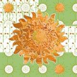 De gevormde zonnige weide van de beeld eenvoudige lente Royalty-vrije Stock Afbeelding