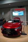 De gewaagde nieuwe Toyota Camry-auto op vertoning Stock Foto