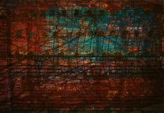 De geweven Achtergrond van Grunge Muur met krassen en oneffenheden Lege kunstruimte Stock Foto's
