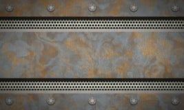 De Geweven Achtergrond van het metaal Geroest Metaal stock illustratie