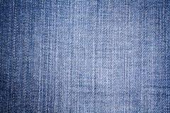 De geweven achtergronden van jeans Royalty-vrije Stock Foto