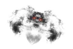 De geweven die Rook, vat zwarte samen, op witte achtergrond wordt geïsoleerd Stock Afbeelding