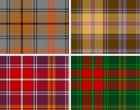 De geweven plaid van het seamlesgeruite Schotse wollen stof Royalty-vrije Stock Afbeeldingen