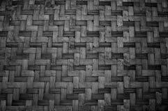 De geweven Textuur van het Bamboe Patroon en textuurachtergrond stock foto