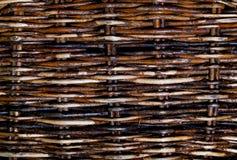 De geweven textuur van rieten abstracte achtergrond Sluit omhoog royalty-vrije stock afbeelding