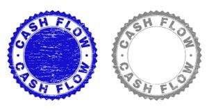De Geweven Watermerken van de Grungecash flow royalty-vrije illustratie