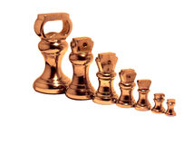 De Gewichten van het messing royalty-vrije stock afbeelding
