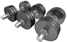 De gewichten van Weightlifting Stock Fotografie