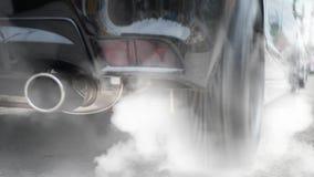 De gewijzigde auto maakt weg brandwond rubber het stock fotografie