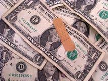 De gewonde Rekening van de Dollar Royalty-vrije Stock Afbeeldingen