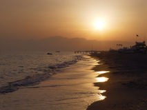 De gewone zonsondergang Stock Fotografie