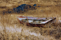 De geworpen boot stock foto's