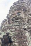 De gezichten bij de Bayon-Tempel, Siem Riep, Kambodja Gezicht Stock Afbeelding