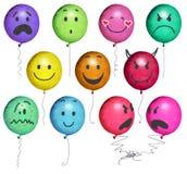 De gezichten van ballons Stock Afbeeldingen