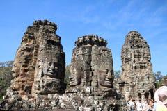 De gezichten van Boedha in Angkor Wat royalty-vrije stock afbeelding