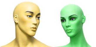 De gezichten van de kleur Royalty-vrije Stock Fotografie