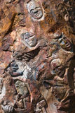 De Gezichten van de rots Stock Afbeelding