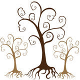De Gezichten van de stamboom Royalty-vrije Stock Afbeeldingen