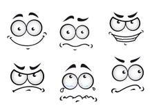 De gezichten van de strippagina Stock Fotografie