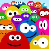 De gezichten van het beeldverhaal Stock Foto