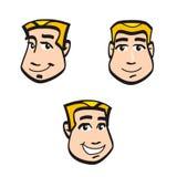 De gezichten van het beeldverhaal Stock Afbeelding