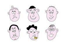 De gezichten van het beeldverhaal Royalty-vrije Stock Fotografie