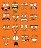 De gezichten van het beeldverhaal stock illustratie