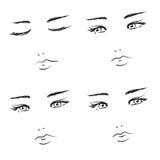 De gezichten van het meisje Royalty-vrije Stock Afbeelding