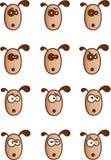 De gezichten van honden Stock Illustratie