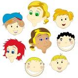 De gezichten van kinderen Royalty-vrije Stock Foto's