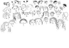 De gezichten van kinderen Royalty-vrije Stock Afbeeldingen