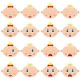 De gezichten van kinderen. Stock Foto's
