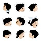 De gezichten van kinderen, uitdrukkingen Royalty-vrije Stock Foto