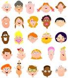 De gezichten van mensen Royalty-vrije Stock Foto's