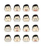 De gezichten van mensenemoties Royalty-vrije Stock Foto's