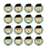 De gezichten van mensenemoties Stock Foto