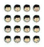 De gezichten van mensenemoties Stock Afbeeldingen