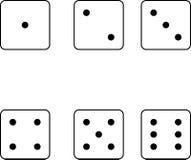 De gezichten van reeks van dobbelen vector illustratie