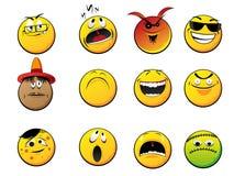 De gezichten van Smiley royalty-vrije illustratie