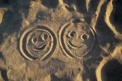 De gezichten van Smiley stock afbeeldingen