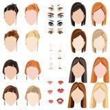De gezichten van vrouwen Royalty-vrije Stock Afbeelding