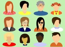 De gezichten van vrouwen uit de voorzijde worden genomen die Royalty-vrije Stock Afbeeldingen