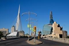 De gezichten van Winnipeg Stock Foto