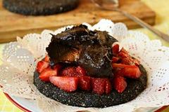 De gezonde cake van de chocoladeveganist Royalty-vrije Stock Afbeelding