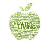 De gezonde het Leven Illustratie van de Appel Stock Fotografie