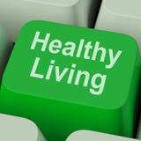 De gezonde het Leven Sleutel toont Gezondheidsdieet en Geschiktheid Royalty-vrije Stock Afbeeldingen