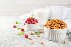 De gezonde Ingrediënten van het Ontbijt Stock Afbeeldingen