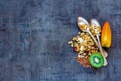 De gezonde Ingrediënten van het Ontbijt Stock Foto