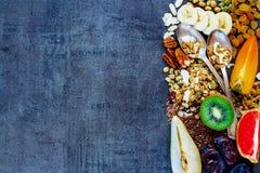 De gezonde Ingrediënten van het Ontbijt Stock Foto's